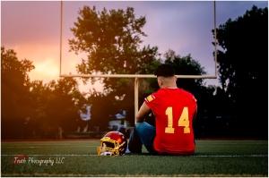 Football senior portrait, Northglenn high school